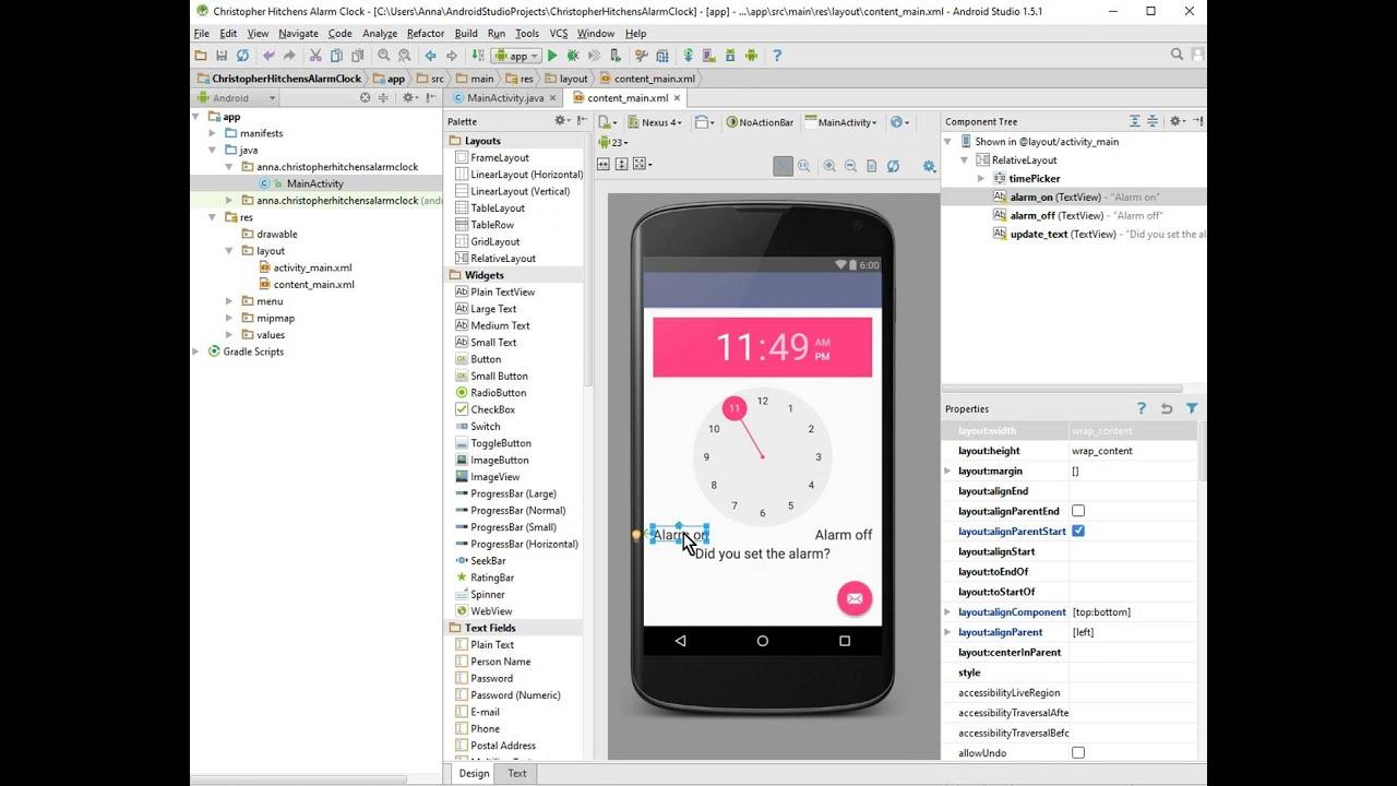 Android Alarm Clock Tutorial   Unique Alarm Clock