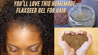 Homemade Flaxseed (Linseed) Gel for Curl Definition