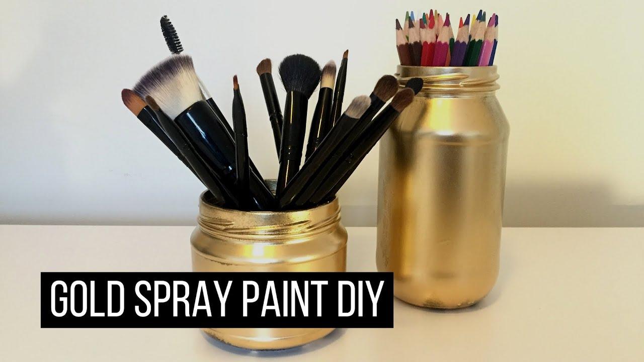 Gold spray paint DIY - YouTube