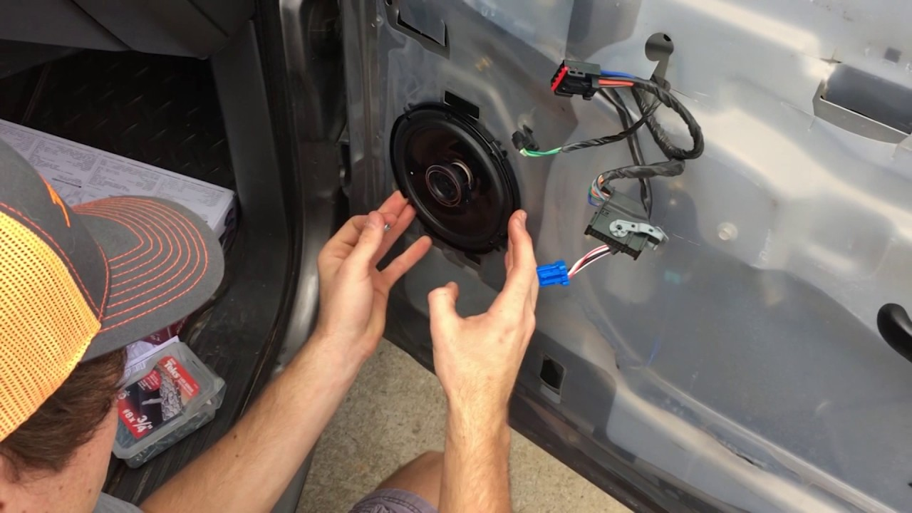 How To Change Front Door Speakers In 2006 Chevy Silverado Without Buying Brackets Youtube