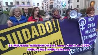 PLATAFORMA FEMINISTA DE ALICANTE Cncentracion de urgencia 22 de abril 2019