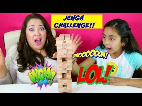 JENGA CHALLENGE!! Fun Family Games | B2cutecupcakes