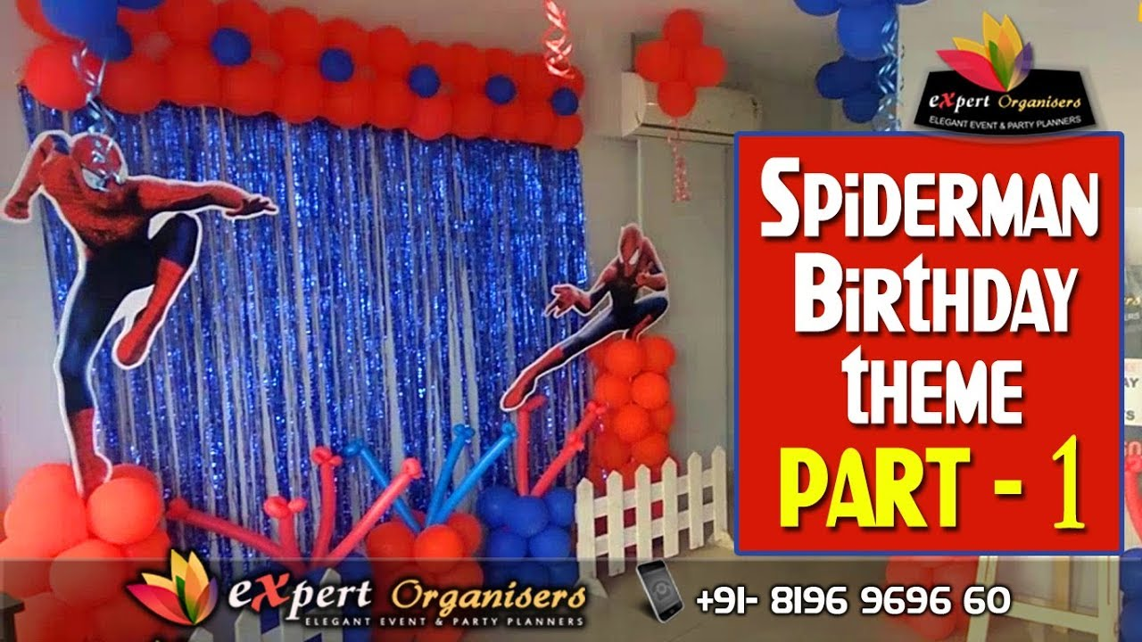 SpiderMan Birthday Party Banner