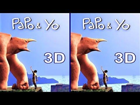 3D  VR video Papo & Yo 3D SBS VR box google cardboard
