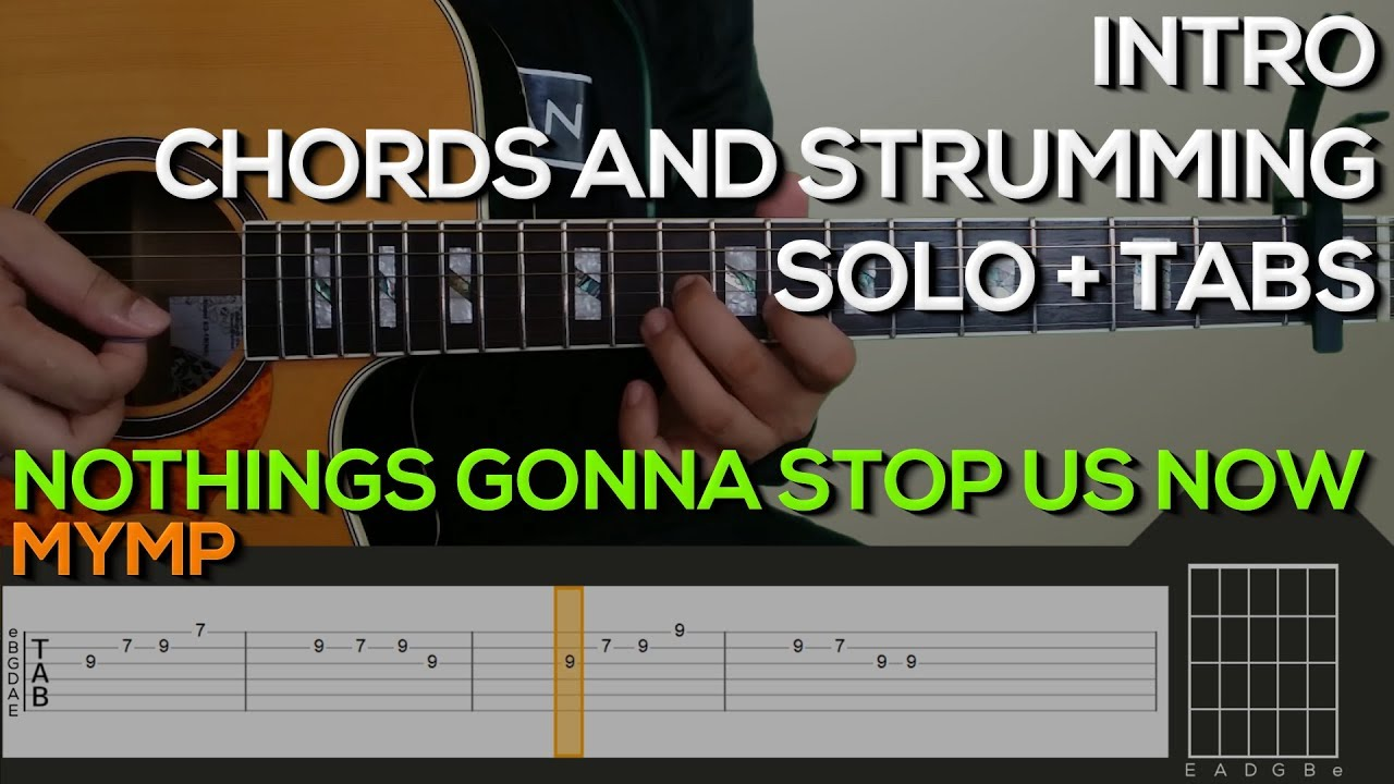 MYMP   Nothings Gonna Stop Us Now [INTRO, SOLO, CHORDS & STRUMMING] Guitar  Tutorial