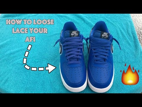 How to lace Air Force 1 | LOOSE LACE AF1
