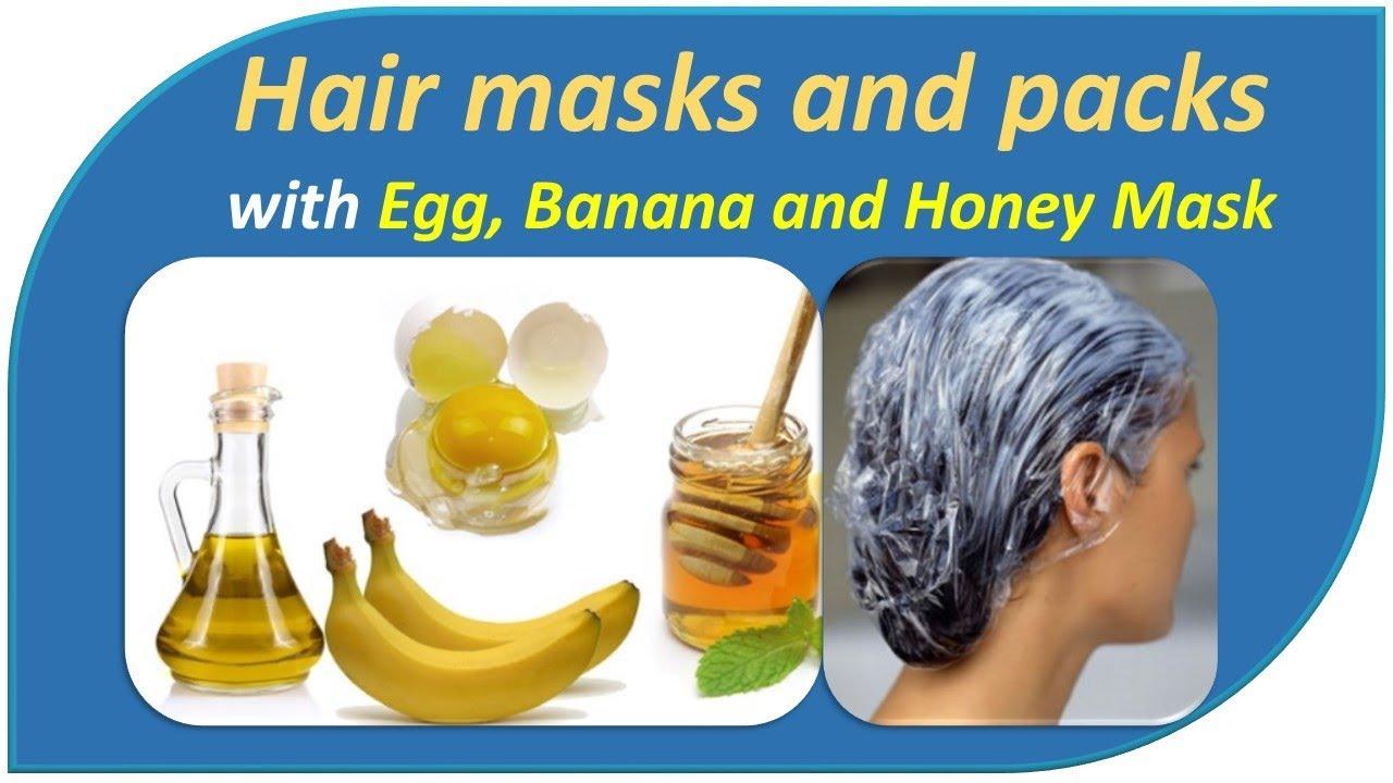 Hair Masks And Packs With Banana Egg Banana And Honey Mask Youtube