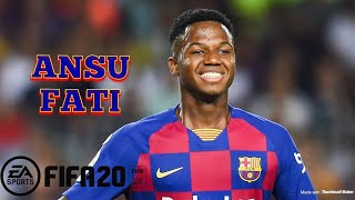 Player details here - https://www.fifaindex.com/player/253004/ansu-fati/ gameplay highlights the player's best attributes, some stats are enhanced due to dyn...