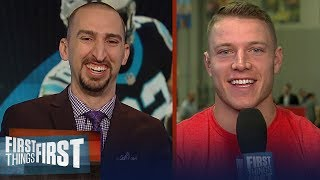 Christian McCaffrey on C.J. Anderson's impact with Rams, talks Cam Newton   NFL   FIRST THINGS FIRST