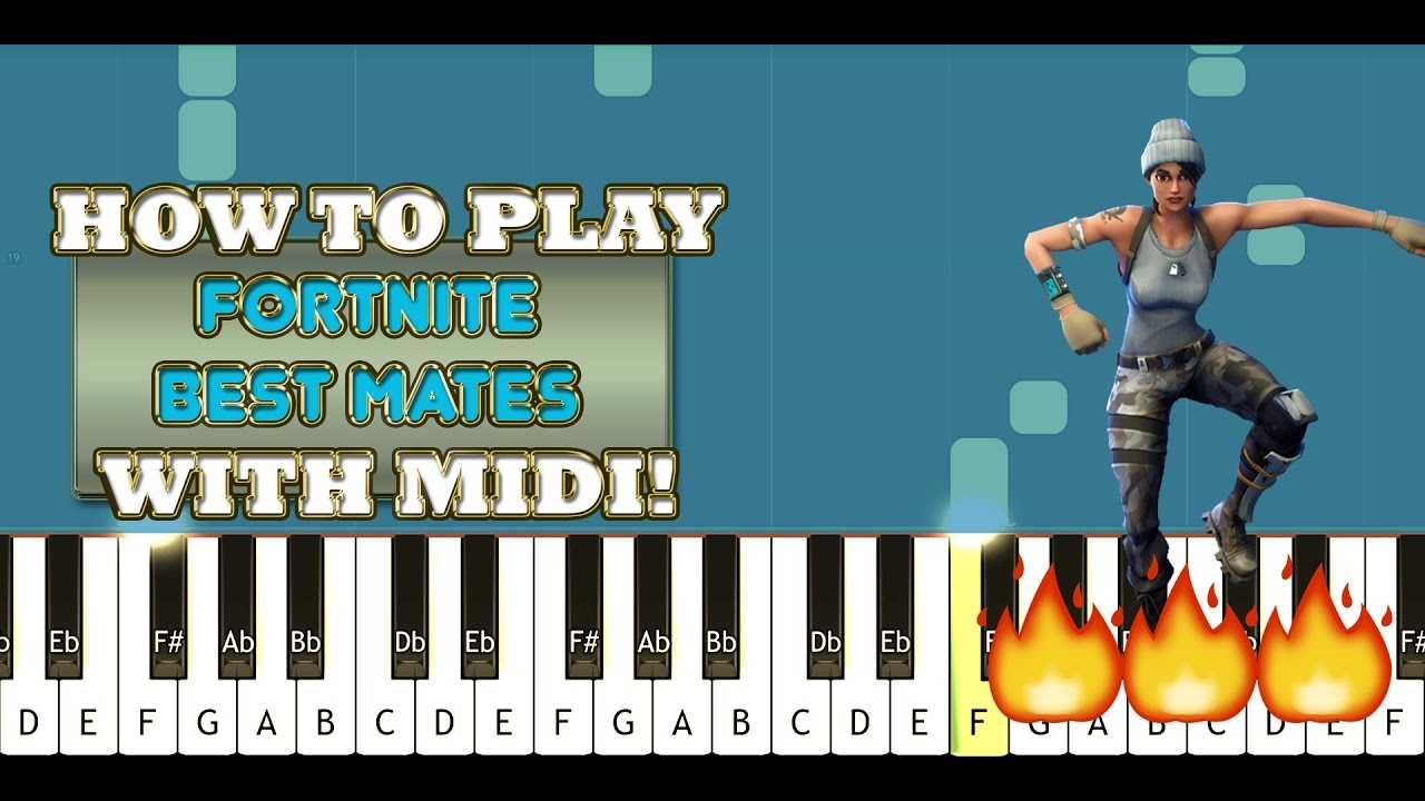 Fortnite Best Mates Dance on PIANO! Learn & Play ...