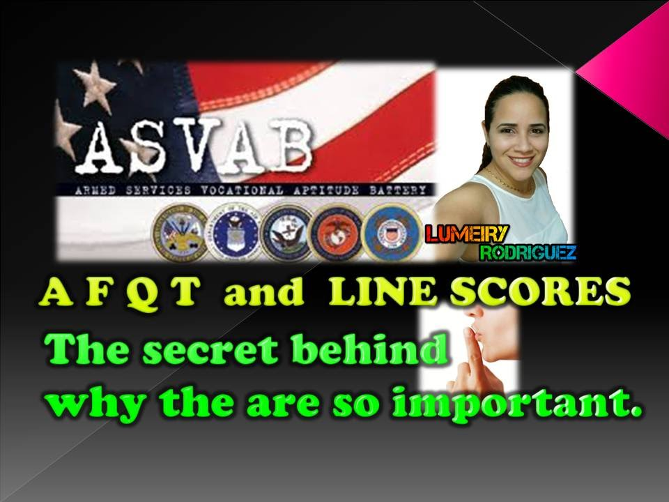 AFQT and Line Scores (asvab) D#10