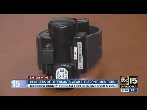 Hundreds of defendants wear electronic ankle monitors