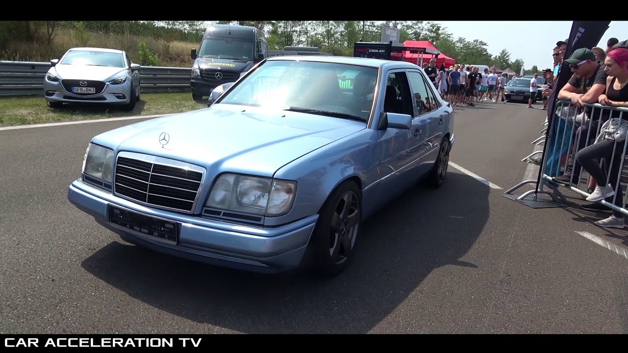 Mercedes 300d Turbo Diesel W124 Acceleration  Car Acceleration Tv 01:20 HD