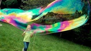 Как сделать мыльные пузыри ! Раствор для мыльных пузырей