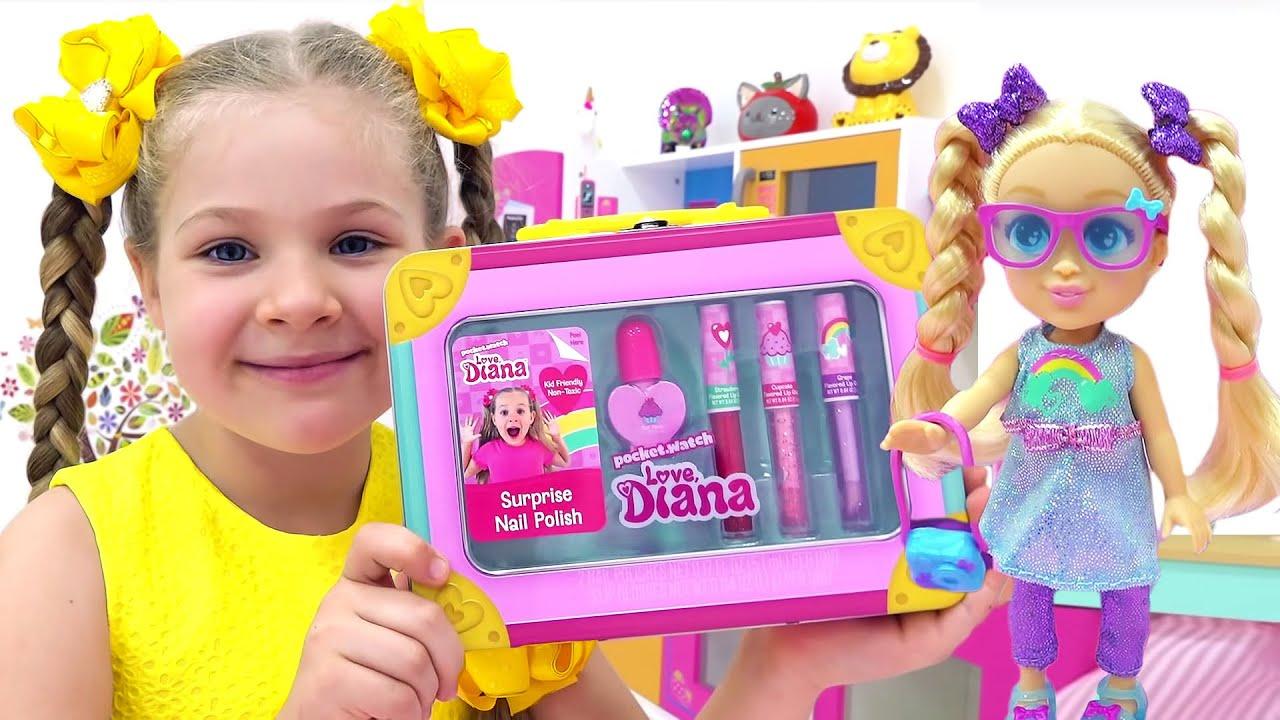 ديانا وصديقاتها يلعبون بألعاب ديانا!