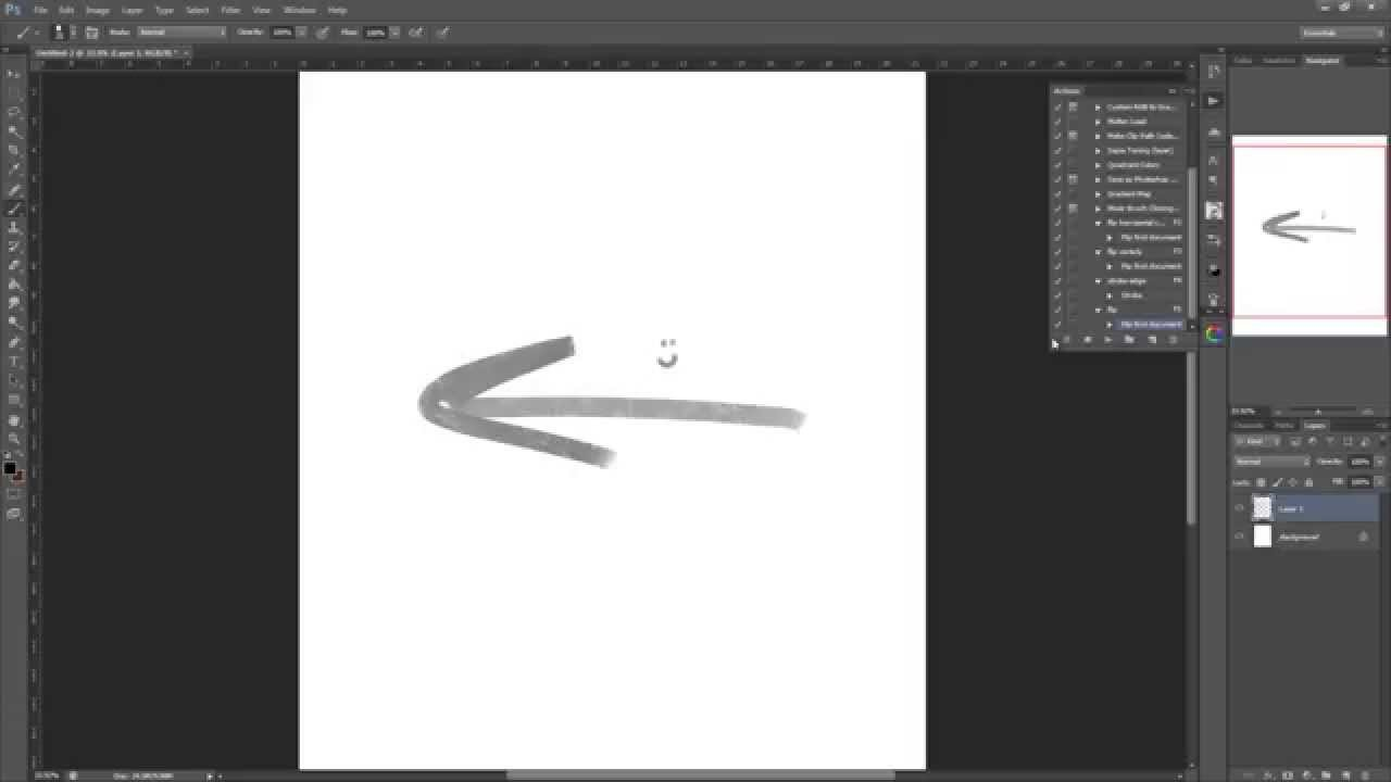 How photoshop image in to flip