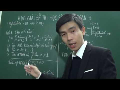 Bài thi học sinh giỏi toán 8 huyện Nghĩa Đàn, Nghệ An năm 2013-2014 (phần 1)