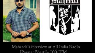 Maheeda Interview( Hardeep Brar ) with Prasaar Bharti Radio Station ( all india radio )
