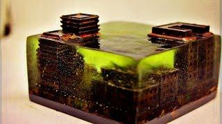 Диорама Затопленный город на 3D принтере с эпоксидной смолой