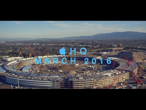 Apple Campus 2 Drone Video Shows Work on Massive Curved Windows, Solar Panels
