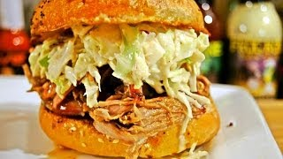 """Kamado Joe""  BBQ Pulled Pork Sandwiches (Recipe)"