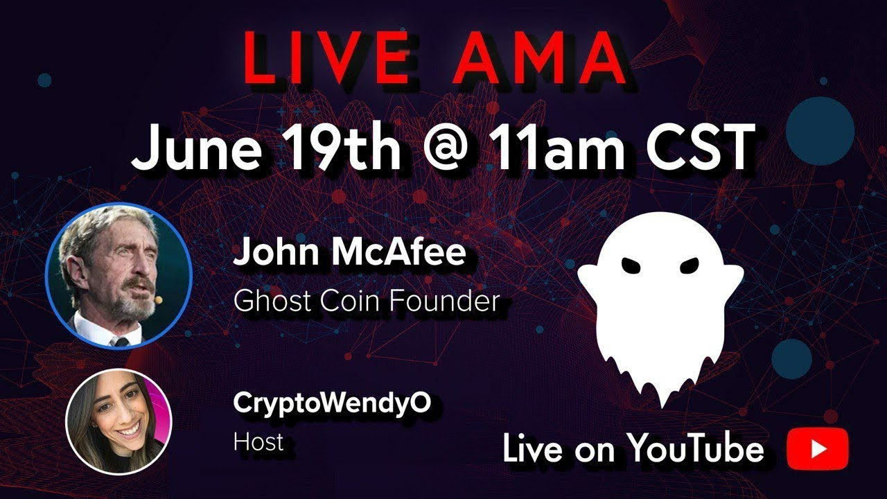 LIVE WITH JOHN MCAFEE DISCUSSING GHOST AND PRIVACY