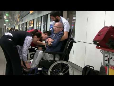 Assistance for disabled at the airport (spinal muscular atrophy)