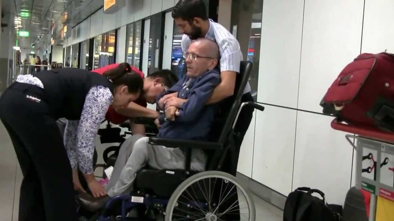 Assistance For Disabled At The Airport Spinal Muscular