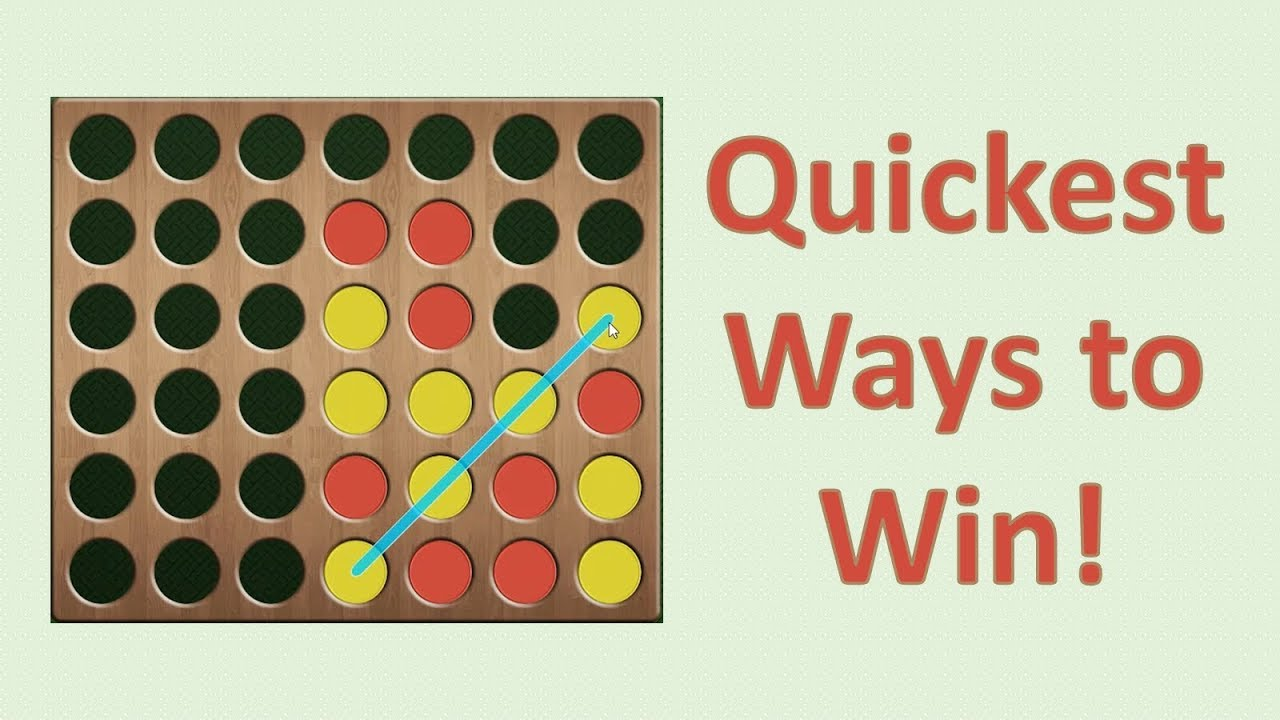 Quickest Ways To Win At Connect 4 Youtube