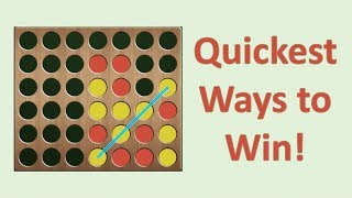Quickest Ways to Win at Connect 4!