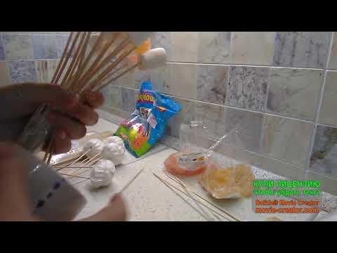 Букет из зефира и мармелада (просто и быстро в домашних условиях)