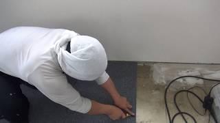 타일카페트 빠르고정확히 재단하는방법, 50초간 보시면 알수있습니다.일본에서 How to cut tile carpet