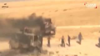تدمير قافلة سيارات #داعش في القيارة شمال #الموصل