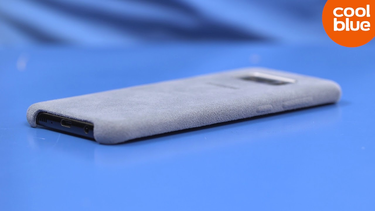 wholesale dealer d9789 946e3 Samsung Galaxy S8/S8 Plus Alcantara Back Cover Productvideo (NL)
