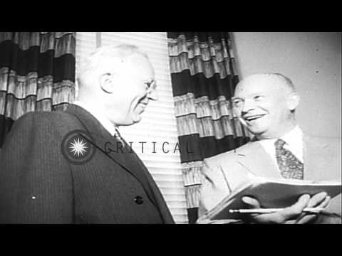California's Governor Earl Warren is appointed as the Chief Justice of the Suprem...HD Stock Footage