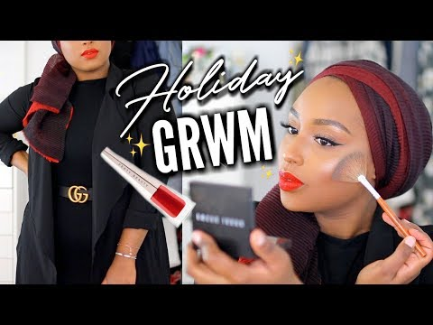 CHATTY Get Ready With Me! | FULL COVERAGE Holiday Makeup + Outfit | Aysha Abdul