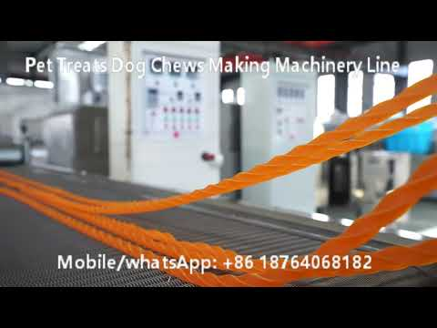 pet-chews-dog-treats-making-machine-plant-processing-line-running-videos
