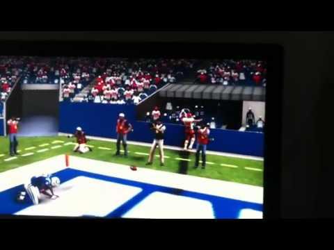 Londen Fryar- fumble for touchdown Madden 12