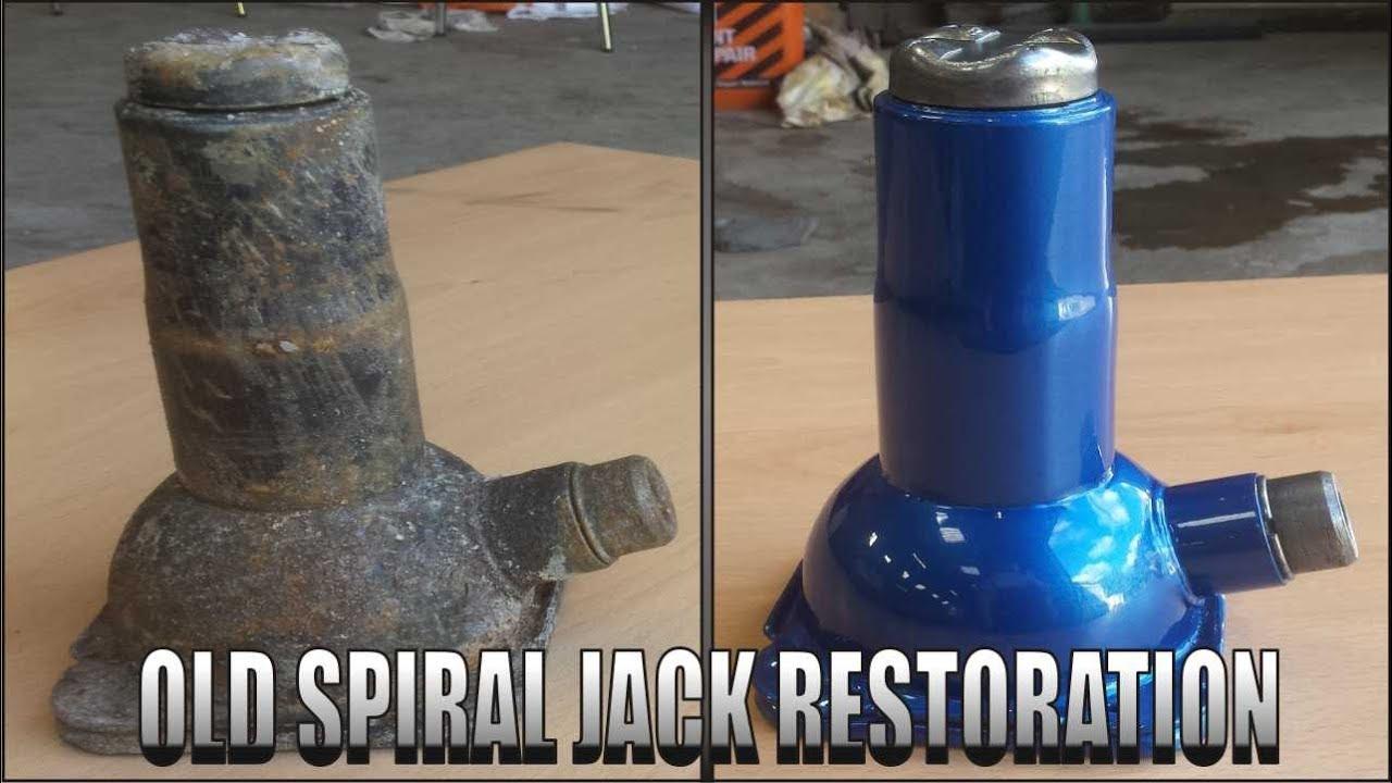 Old Spiral Jack Restoration ( screw jack , bottle jack )