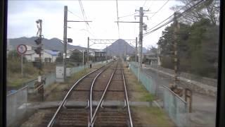 前面展望 ことでん レトロ電車  300号 高松築港→琴電琴平 2014 12 21