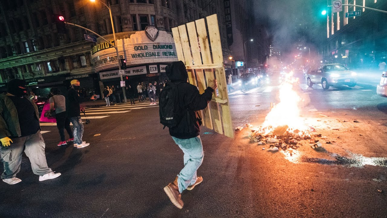 Download ⚠️GRAPHIC CONTENT: George Floyd Protests Turn to Riots in Los Angeles   Fires, Looting & Tear Gas