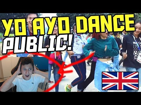 *REACTION* VIA VALLEN 'MERAIH BINTANG' DANCE IN PUBLIC - ASIAN GAMES 2018 SONG (Asian Games Dance)