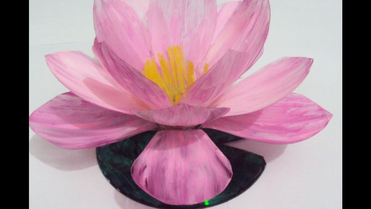 Room Decorlotus Flower Make With Plastic Bottle Youtube
