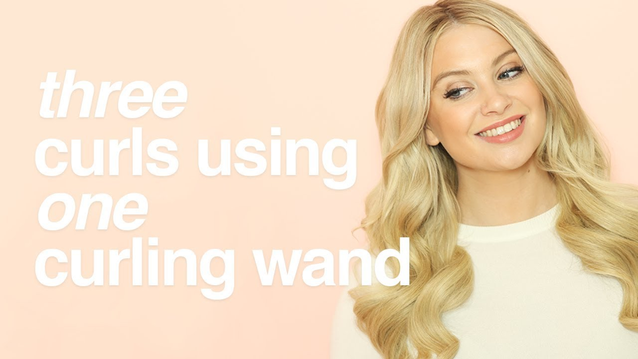 How To Create 3 Different Curls Using A Curling Wand Milk Blush