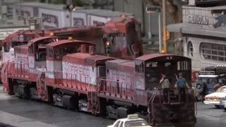 NEW Frisco Street running on the City Edge Layout by Vic Smith in 4K Video