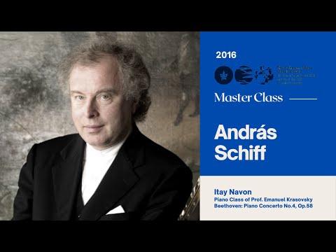 Sir András Schiff Piano Master Class 2016 - Itai Navon