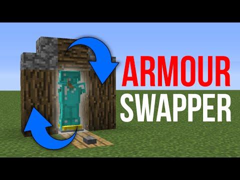Minecraft 1.14: Redstone Tutorial - Armour Stand Swapper V2