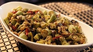 Spicy Okra - Indian Vegetarian Recipes - Easy Indian Recipes