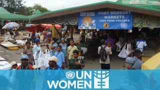 Mercados más seguros para mujeres en Papua New Guinea