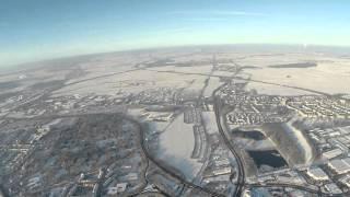Winterland Hildesheim von oben.